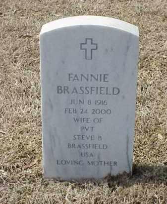 BRASSFIELD, FANNIE - Pulaski County, Arkansas | FANNIE BRASSFIELD - Arkansas Gravestone Photos