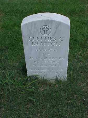 BRATTON (VETERAN WWI), CLETTIES C - Pulaski County, Arkansas | CLETTIES C BRATTON (VETERAN WWI) - Arkansas Gravestone Photos