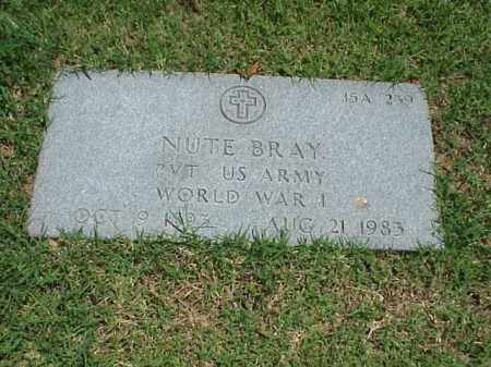 BRAY (VETERAN WWI), NUTE - Pulaski County, Arkansas | NUTE BRAY (VETERAN WWI) - Arkansas Gravestone Photos