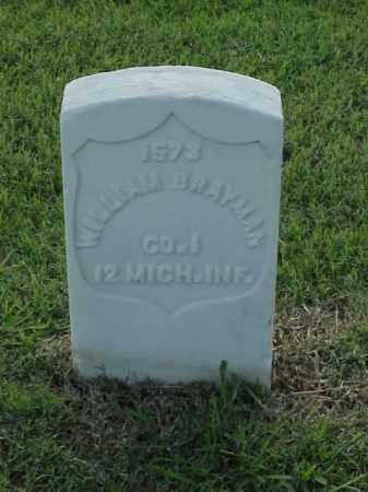 BRAYMAN (VETERAN UNION), WILLIAM - Pulaski County, Arkansas   WILLIAM BRAYMAN (VETERAN UNION) - Arkansas Gravestone Photos