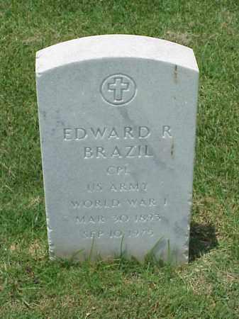 BRAZIL (VETERAN WWI), EDWARD R - Pulaski County, Arkansas | EDWARD R BRAZIL (VETERAN WWI) - Arkansas Gravestone Photos