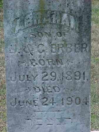 ERBER, ABRAHAM (CLOSE UP) - Pulaski County, Arkansas | ABRAHAM (CLOSE UP) ERBER - Arkansas Gravestone Photos