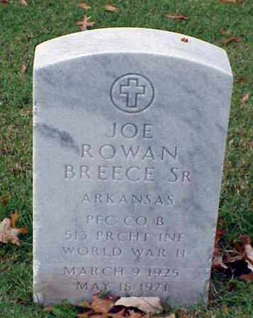 BREECE, SR (VETERAN WWII), JOE ROWAN - Pulaski County, Arkansas | JOE ROWAN BREECE, SR (VETERAN WWII) - Arkansas Gravestone Photos
