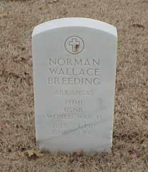BREEDING  (VETERAN WWII), NORMAN WALLACE - Pulaski County, Arkansas   NORMAN WALLACE BREEDING  (VETERAN WWII) - Arkansas Gravestone Photos