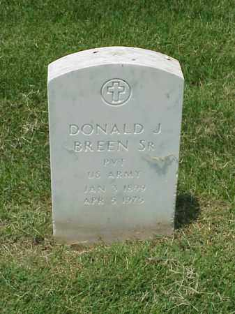 BREEN, SR (VETERAN), DONALD J - Pulaski County, Arkansas | DONALD J BREEN, SR (VETERAN) - Arkansas Gravestone Photos