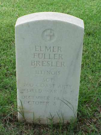 BRESLER (VETERAN WWII), ELMER FULLER - Pulaski County, Arkansas | ELMER FULLER BRESLER (VETERAN WWII) - Arkansas Gravestone Photos
