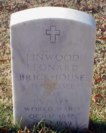 BRICKHOUSE (VETERAN WWI), LINWOOD LEONARD - Pulaski County, Arkansas | LINWOOD LEONARD BRICKHOUSE (VETERAN WWI) - Arkansas Gravestone Photos