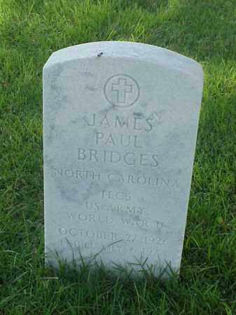 BRIDGES (VETERAN WWII), JAMES PAUL - Pulaski County, Arkansas | JAMES PAUL BRIDGES (VETERAN WWII) - Arkansas Gravestone Photos