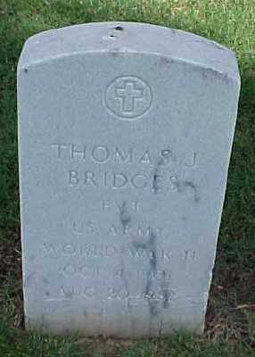 BRIDGES (VETERAN WWII), THOMAS J - Pulaski County, Arkansas   THOMAS J BRIDGES (VETERAN WWII) - Arkansas Gravestone Photos