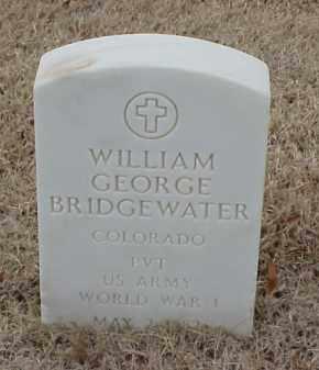 BRIDGEWATER  (VETERAN WWI), WILLIAM GEORGE - Pulaski County, Arkansas | WILLIAM GEORGE BRIDGEWATER  (VETERAN WWI) - Arkansas Gravestone Photos
