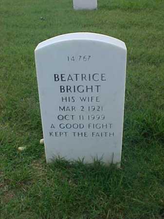 BRIGHT, BEATRICE - Pulaski County, Arkansas   BEATRICE BRIGHT - Arkansas Gravestone Photos