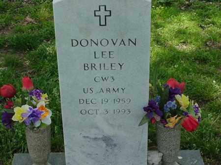 BRILEY (VETERAN), DONOVAN LEE - Pulaski County, Arkansas   DONOVAN LEE BRILEY (VETERAN) - Arkansas Gravestone Photos