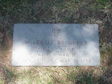 BRINKLEY (VETERAN WWII), W LEROY - Pulaski County, Arkansas | W LEROY BRINKLEY (VETERAN WWII) - Arkansas Gravestone Photos