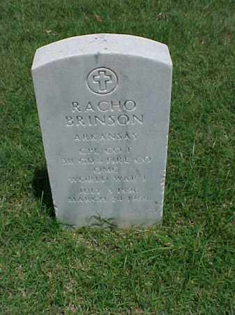 BRINSON (VETERAN WWI), RACHO - Pulaski County, Arkansas | RACHO BRINSON (VETERAN WWI) - Arkansas Gravestone Photos
