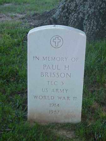 BRISSON (VETERAN WWII), PAUL  H - Pulaski County, Arkansas   PAUL  H BRISSON (VETERAN WWII) - Arkansas Gravestone Photos
