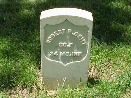 BRITT (VETERAN UNION), ROBERT R - Pulaski County, Arkansas | ROBERT R BRITT (VETERAN UNION) - Arkansas Gravestone Photos