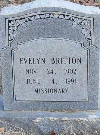 BRITTON, EVELYN - Pulaski County, Arkansas   EVELYN BRITTON - Arkansas Gravestone Photos