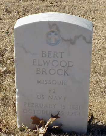BROCK (VETERAN), BERT ELWOOD - Pulaski County, Arkansas   BERT ELWOOD BROCK (VETERAN) - Arkansas Gravestone Photos