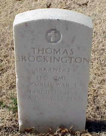 BROCKINGTON (VETERAN WWI), THOMAS - Pulaski County, Arkansas | THOMAS BROCKINGTON (VETERAN WWI) - Arkansas Gravestone Photos