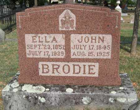 BRODIE, ELLA - Pulaski County, Arkansas | ELLA BRODIE - Arkansas Gravestone Photos