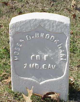 BROOKHART (VETERAN UNION), MOSES D - Pulaski County, Arkansas | MOSES D BROOKHART (VETERAN UNION) - Arkansas Gravestone Photos