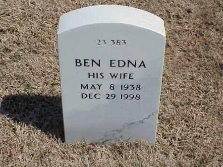 BROOKS, BEN EDNA - Pulaski County, Arkansas | BEN EDNA BROOKS - Arkansas Gravestone Photos