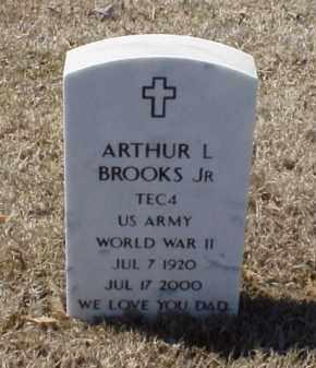 BROOKS, JR (VETERAN WWII), ARTHUR L - Pulaski County, Arkansas   ARTHUR L BROOKS, JR (VETERAN WWII) - Arkansas Gravestone Photos