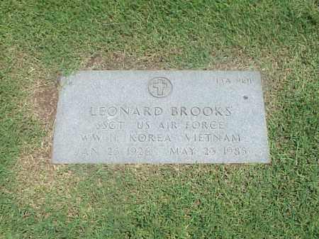 BROOKS (VETERAN 3 WARS), LEONARD - Pulaski County, Arkansas | LEONARD BROOKS (VETERAN 3 WARS) - Arkansas Gravestone Photos