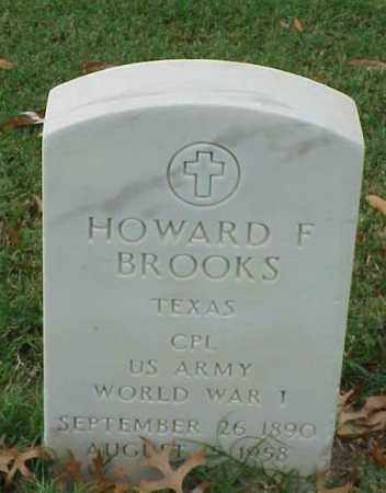 BROOKS (VETERAN WWI), HOWARD F - Pulaski County, Arkansas | HOWARD F BROOKS (VETERAN WWI) - Arkansas Gravestone Photos