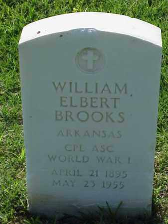 BROOKS (VETERAN WWI), WILLIAM ELBERT - Pulaski County, Arkansas | WILLIAM ELBERT BROOKS (VETERAN WWI) - Arkansas Gravestone Photos