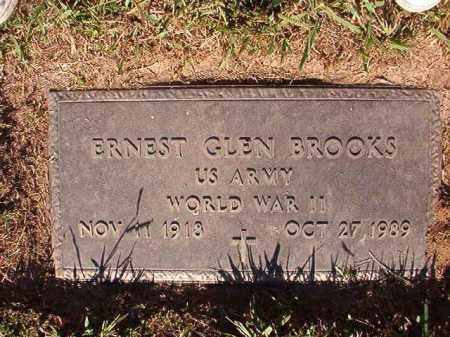 BROOKS (VETERAN WWII), ERNEST GLEN - Pulaski County, Arkansas | ERNEST GLEN BROOKS (VETERAN WWII) - Arkansas Gravestone Photos