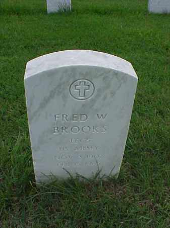 BROOKS (VETERAN WWII), FRED W - Pulaski County, Arkansas   FRED W BROOKS (VETERAN WWII) - Arkansas Gravestone Photos