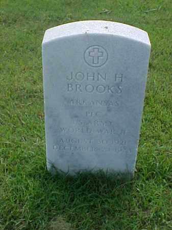 BROOKS (VETERAN WWII), JOHN H - Pulaski County, Arkansas | JOHN H BROOKS (VETERAN WWII) - Arkansas Gravestone Photos