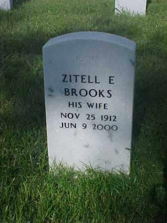 BROOKS, ZITELL E - Pulaski County, Arkansas   ZITELL E BROOKS - Arkansas Gravestone Photos
