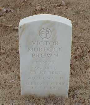 BROWN  (VETERAN WWII), VICTOR MURDOCK - Pulaski County, Arkansas   VICTOR MURDOCK BROWN  (VETERAN WWII) - Arkansas Gravestone Photos