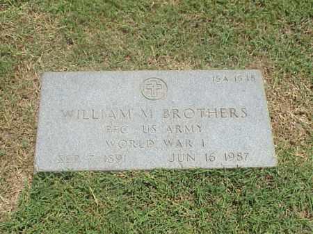 BROTHERS (VETERAN WWI), WILLIAM M - Pulaski County, Arkansas | WILLIAM M BROTHERS (VETERAN WWI) - Arkansas Gravestone Photos