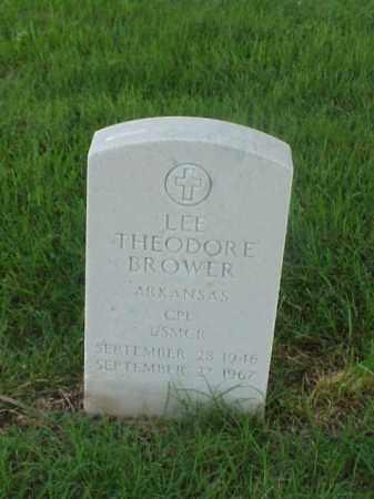 BROWER (VETERAN), LEE THEODORE - Pulaski County, Arkansas   LEE THEODORE BROWER (VETERAN) - Arkansas Gravestone Photos
