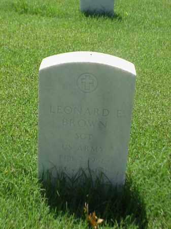 BROWN (VETERAN), LEONARD E - Pulaski County, Arkansas   LEONARD E BROWN (VETERAN) - Arkansas Gravestone Photos