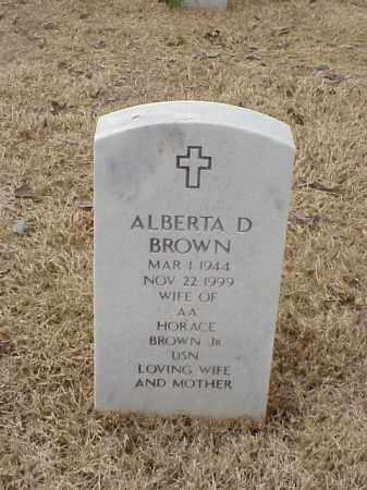 BROWN, ALBERTA D - Pulaski County, Arkansas | ALBERTA D BROWN - Arkansas Gravestone Photos