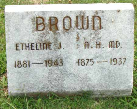 BROWN, M.D., A. H. - Pulaski County, Arkansas | A. H. BROWN, M.D. - Arkansas Gravestone Photos
