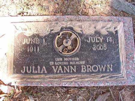 VANN BROWN, JULIA - Pulaski County, Arkansas | JULIA VANN BROWN - Arkansas Gravestone Photos