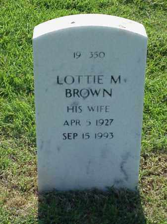 BROWN, LOTTIE M - Pulaski County, Arkansas   LOTTIE M BROWN - Arkansas Gravestone Photos