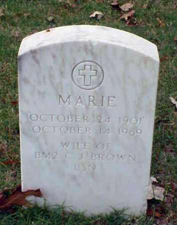 BROWN, MARIE - Pulaski County, Arkansas | MARIE BROWN - Arkansas Gravestone Photos