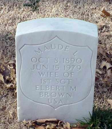 BROWN, MAUDE L - Pulaski County, Arkansas   MAUDE L BROWN - Arkansas Gravestone Photos