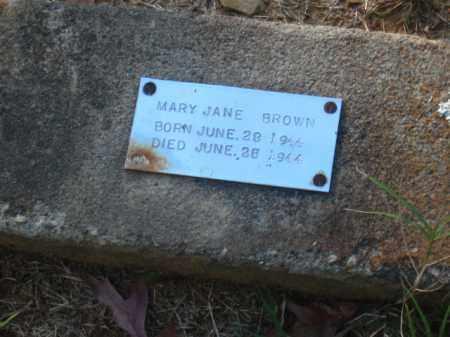 BROWN, MARY JANE - Pulaski County, Arkansas   MARY JANE BROWN - Arkansas Gravestone Photos