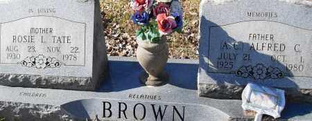 TATE BROWN, ROSIE L - Pulaski County, Arkansas | ROSIE L TATE BROWN - Arkansas Gravestone Photos