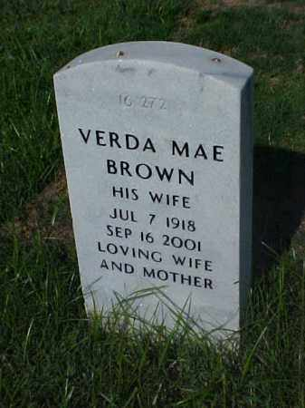 BROWN, VERDA MAE - Pulaski County, Arkansas | VERDA MAE BROWN - Arkansas Gravestone Photos