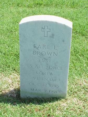 BROWN (VETERAN 2 WARS), EARL L - Pulaski County, Arkansas | EARL L BROWN (VETERAN 2 WARS) - Arkansas Gravestone Photos