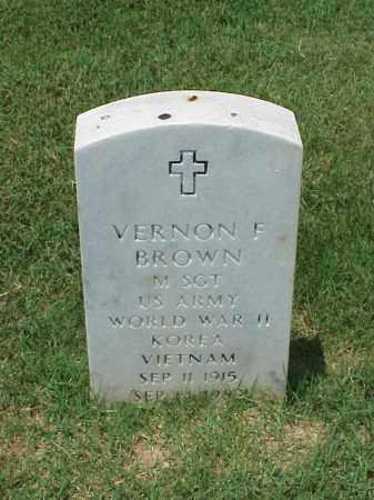 BROWN (VETERAN 3 WARS), VERNON F - Pulaski County, Arkansas | VERNON F BROWN (VETERAN 3 WARS) - Arkansas Gravestone Photos