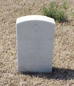 BROWN (VETERAN), ERNEST WALTER - Pulaski County, Arkansas   ERNEST WALTER BROWN (VETERAN) - Arkansas Gravestone Photos